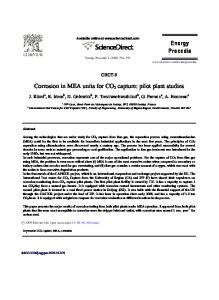 Corrosion in MEA units for CO2 capture: Pilot plant ... - ScienceDirect