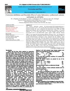 Corrosion inhibition and biocidal effect of some ...