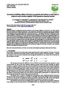 Corrosion inhibition effect of hydroxy pyrazoline derivatives on mild