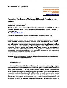 Corrosion Monitoring of Reinforced Concrete Structures - International ...