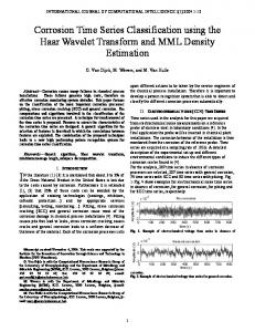Corrosion Time Series Classification using the Haar Wavelet ...