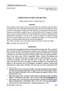 corruption in the land sector1 - AgEcon Search