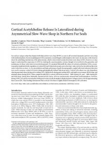 Cortical Acetylcholine Release Is Lateralized during ... - Sleep.Ru