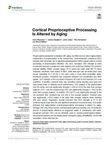 Cortical Proprioceptive Processing Is Altered by