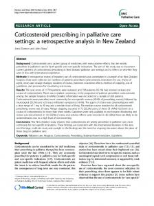 Corticosteroid prescribing in palliative care settings: a retrospective ...