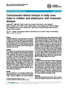 Corticosteroid related changes in body mass index in ... - Springer Link