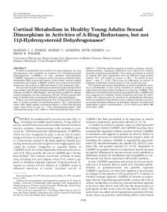 Cortisol Metabolism in Healthy Young Adults: Sexual Dimorphism in ...