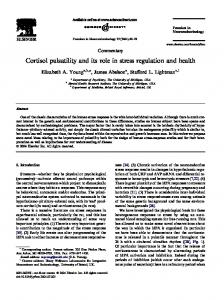 Cortisol pulsatility and its role in stress regulation ... - Semantic Scholar