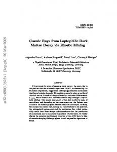 Cosmic Rays from Leptophilic Dark Matter Decay via Kinetic Mixing