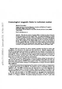 Cosmological magnetic fields in turbulent matter