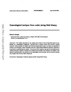 Cosmological tachyon from cubic string field theory