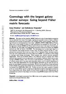 Cosmology with the largest galaxy cluster surveys: Going ... - arXiv