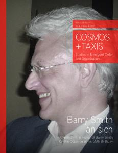 COSMOS + TAXIS   Vol 4   Issue 4 2017