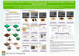 Cost-effective Fabrication of Transparent Electrode ...