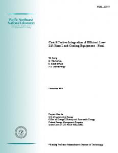 Cost-Effective Integration of Efficient Low- Lift Base-Load Cooling ...