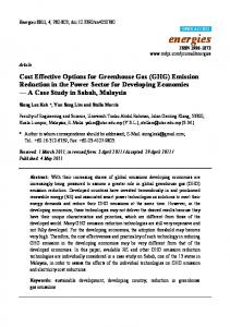 Cost Effective Options for Greenhouse Gas (GHG ... - Semantic Scholar