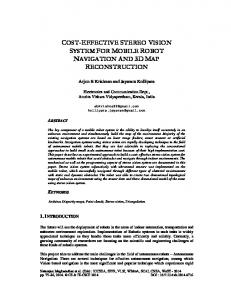 cost-effective stereo vision system for mobile robot ... - Semantic Scholar