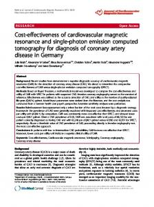 Cost-effectiveness of cardiovascular magnetic