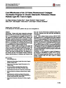 Cost Effectiveness of the 13-Valent Pneumococcal Conjugate ...