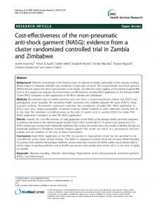 Cost-effectiveness of the non-pneumatic anti-shock ... - BioMed Central