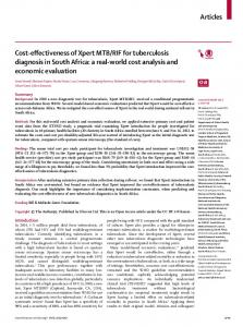 Cost-effectiveness of Xpert MTB/RIF for tuberculosis ... - The Lancet