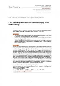 Cost-efficiency of intermodal container supply chain for ... - Silva Fennica