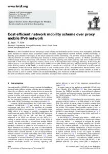 Cost-efficient network mobility scheme over proxy mobile IPv6 network