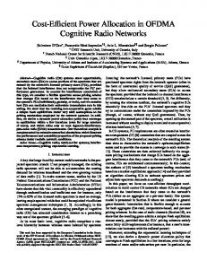 Cost-Efficient Power Allocation in OFDMA Cognitive Radio Networks