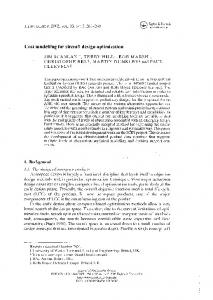 Cost modelling for aircraft design optimization - ePrints Soton