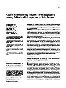 Cost of chemotherapy-induced ... - Wiley Online Library
