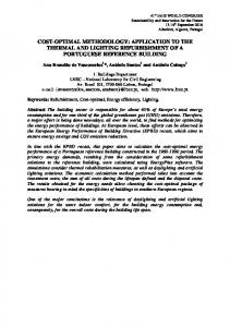 cost-optimal methodology: application to the thermal