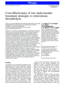 Costeffectiveness of two endovascular treatment