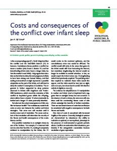 Costs and consequences of the conflict over infant sleep