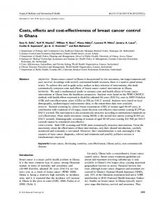 Costs, effects and costeffectiveness of breast ... - Wiley Online Library