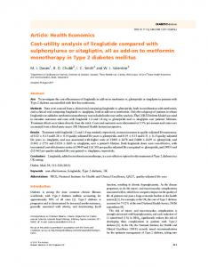 Costutility analysis of liraglutide compared with ... - Wiley Online Library