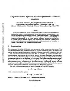 Cosymmetries and Nijenhuis recursion operators for difference ...