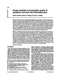 Cougar predation and population growth of sympatric mule deer and ...