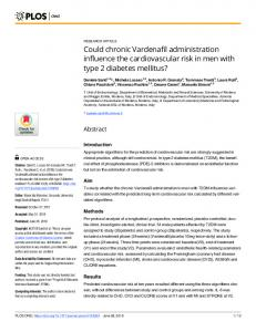 Could chronic Vardenafil administration influence the cardiovascular ...