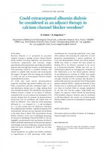 Could extracorporeal albumin dialysis be considered ...