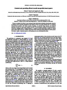 Coulomb and quenching effects in small ... - APS Link Manager