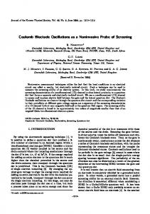 Coulomb Blockade Oscillations as a Noninvasive ...