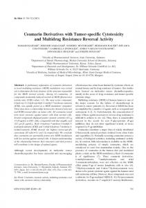 Coumarin Derivatives with Tumor-specific Cytotoxicity and ... - In Vivo