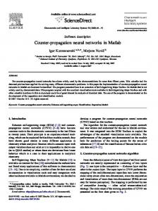 Counter-propagation neural networks in Matlab