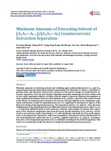 Countercurrent Extraction Separation