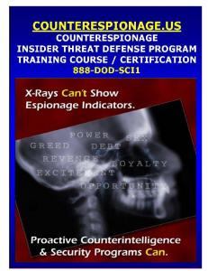 Counterespionage-ITDP Training Course Overview