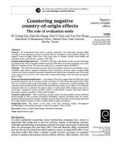 Countering negative country-of-origin effects