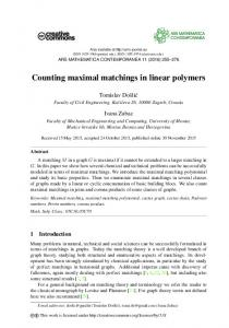 Counting maximal matchings in linear polymers - ars mathematica