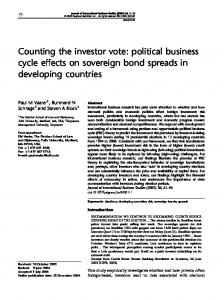 Counting the investor vote: political business cycle effects on