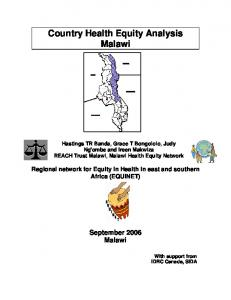 Country Health Equity Analysis Malawi.pdf