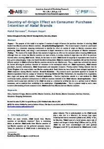 Country-of-Origin Effect on Consumer Purchase Intention of Halal ...